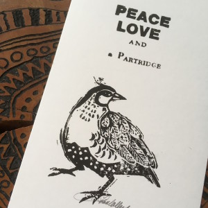 peace, love and a partridge